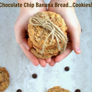 Banana Bread Cookies with Chocolate Chips
