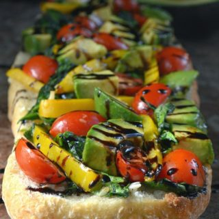 California Garlic Bread With Sauteed Spinach & Avocados