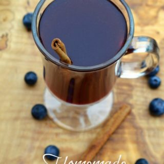 Homemade Blueberry Tea