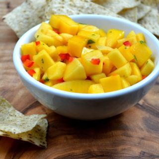 Easy Mango Salsa Recipe  #MakeItMango