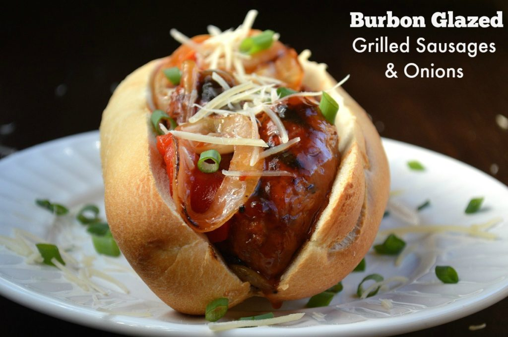 Grilled Bourbon Sausage & Onion Sandwich