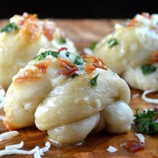 Easy Homemade Loaded Garlic Knots