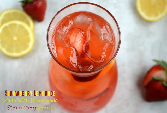 Strawberry Lemonade Made With Strawberry Syrup