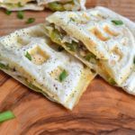 Easy Chicken & Cheese Quesadillas Made in your waffle iron...Unbelievably delicious AND easy!