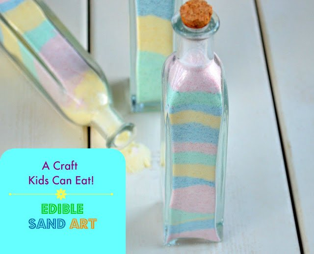 Candy Sand Art - A Craft Kids Can Eat
