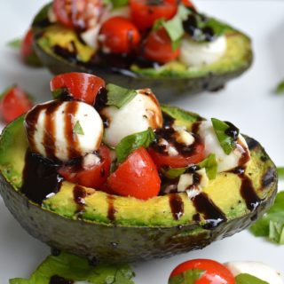 Grilled Avocado Caprese Salad