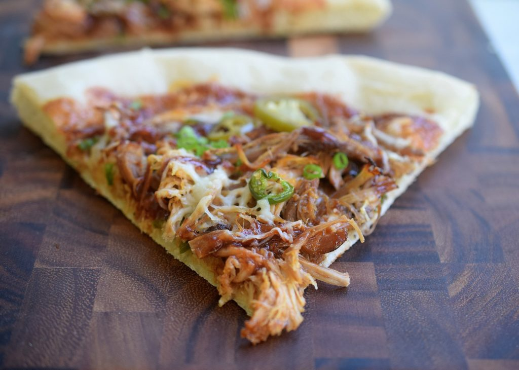 BBQ Pulled Pork Pizza with Jalapenos