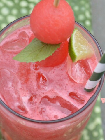 Fresh Watermelon & Lime Vodka Cocktail Recipe