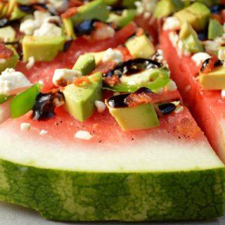 Watermelon & Avocado Pizza