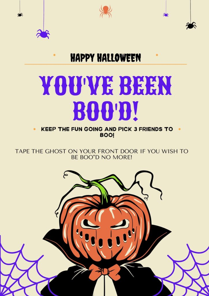 Halloween Booing Instructions
