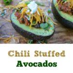Chili Stuffed Avocados