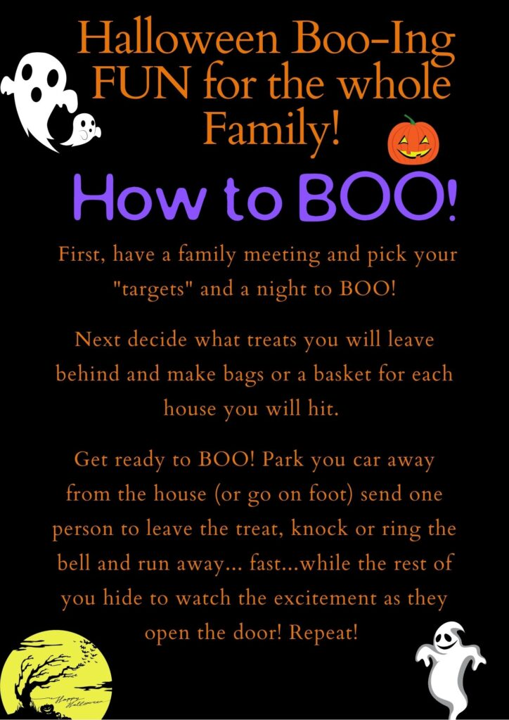 How To Halloween Booing