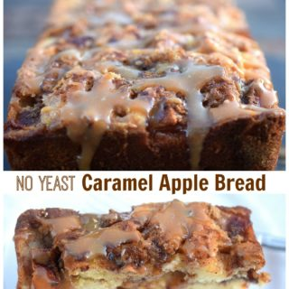 No Yeast Caramel Apple Bread
