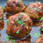 Delicious & easy recipe for Asian Pork Meatballs and bonus they are Gluten Free, no filling!