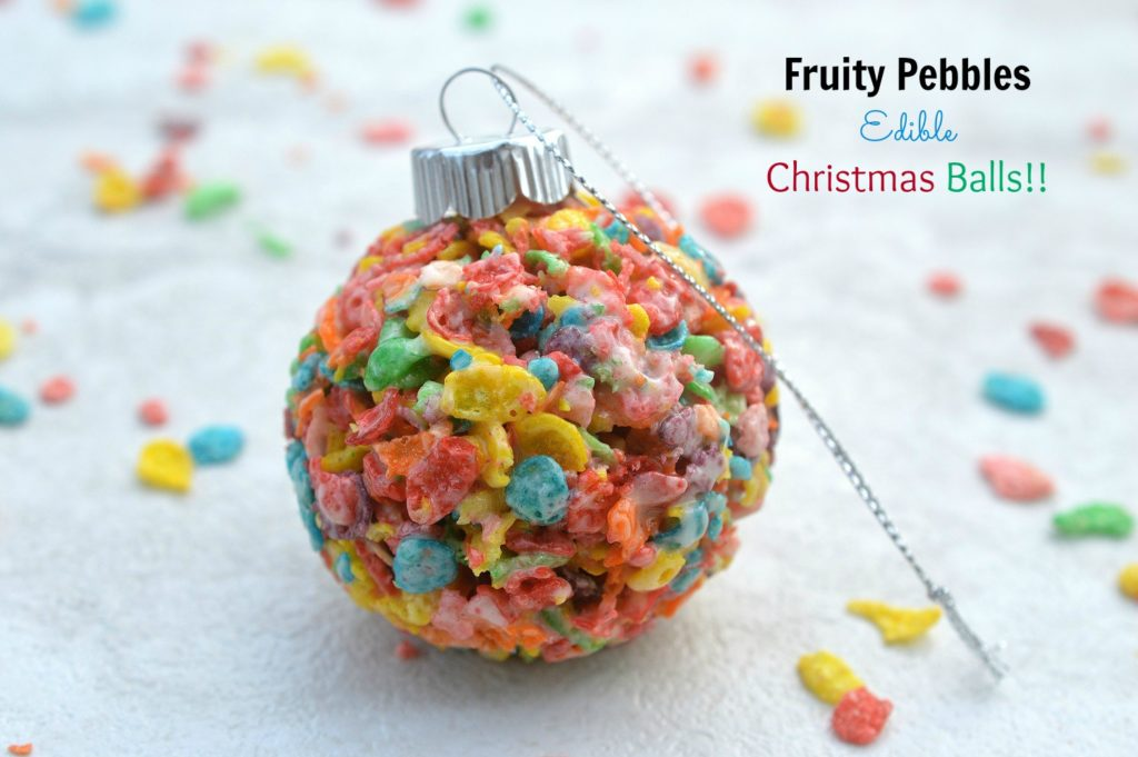 Fruity Pebbles Edible Christmas Balls