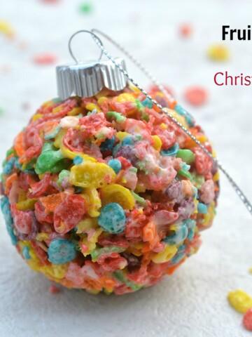 Fruity Pebbles Edible Christmas Balls