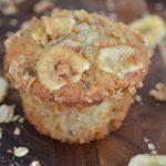 Nut Free Banana Crunch Muffins
