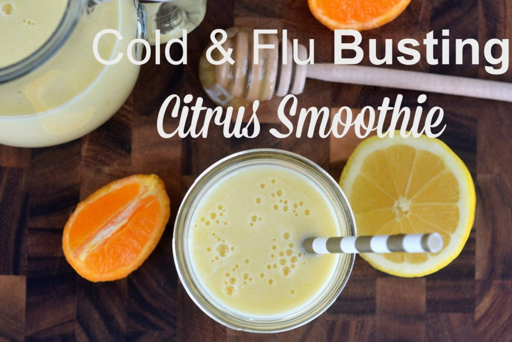 Cold Busting Citrus Smoothie - Take a proactive approach to staying healthy with this Immune Boosting Smoothie
