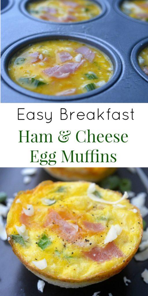 Easy Breakfast Recipe Ham & Cheese Egg Muffins