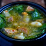 White Bean Spinach & Chorizo Soup Recipe