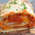 Easy Pepperoni & Cheese Stromboli - Just 5 ingredients makes a HUGE crowd-pleasing loaf!