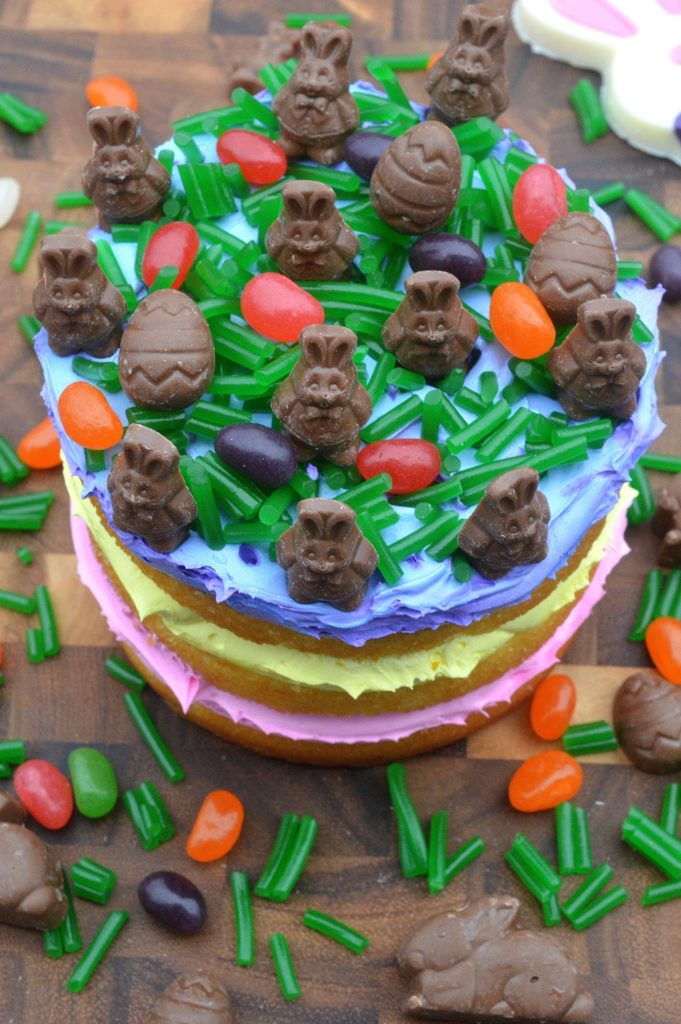 Easter Candy Cake with Edible Grass and Gertrude Hawk Lil Smidgens