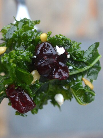 My Favorite Kale Salad with simple ingredients and big flavors, perfect all year round!