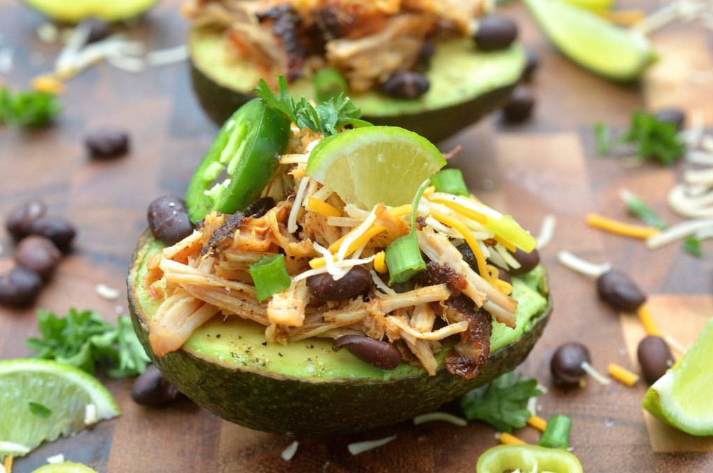 Loaded Pulled Pork Avocados