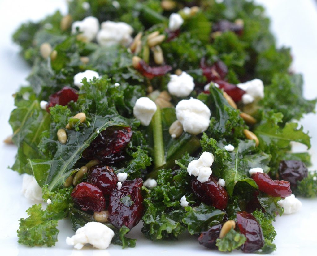 My Favorite Kale Salad with simple ingredients and big flavors - Perfect all year round!