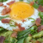 Avocado Breakfast Pizza with Bacon. No better way to start the day!