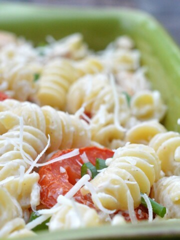Chicken Caesar Pasta Salad A delicious twist on pasta salad!