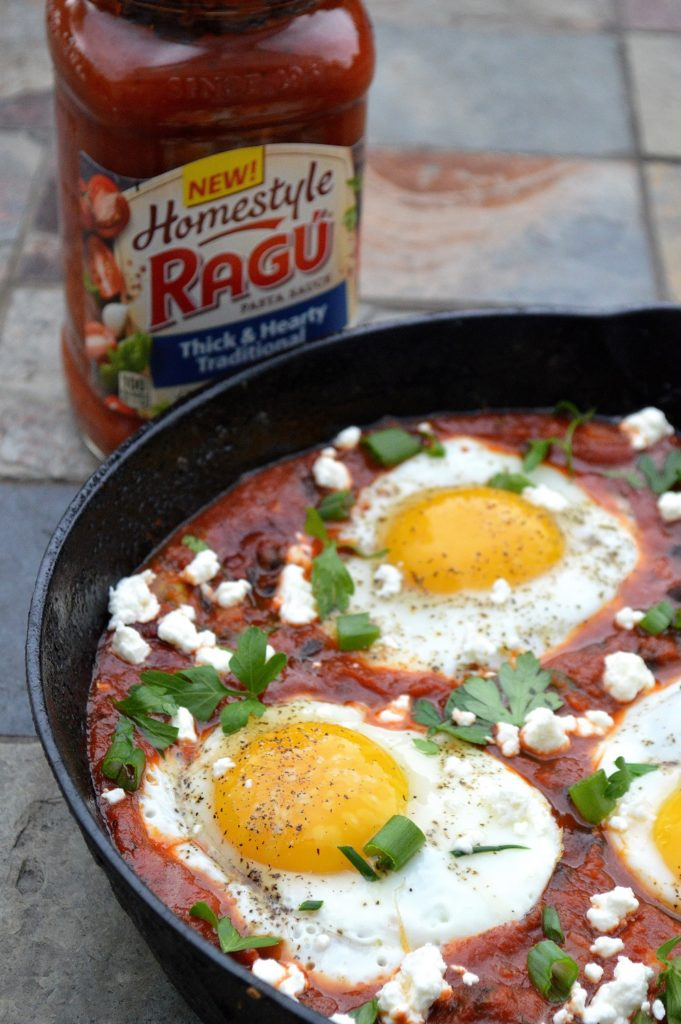 Eggs & Black Beans in Spicy Tomato Sauce