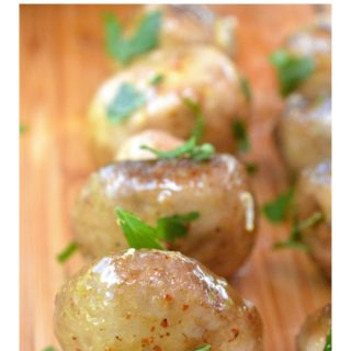 Honey Mustard Mushroom Kebabs...Yum!