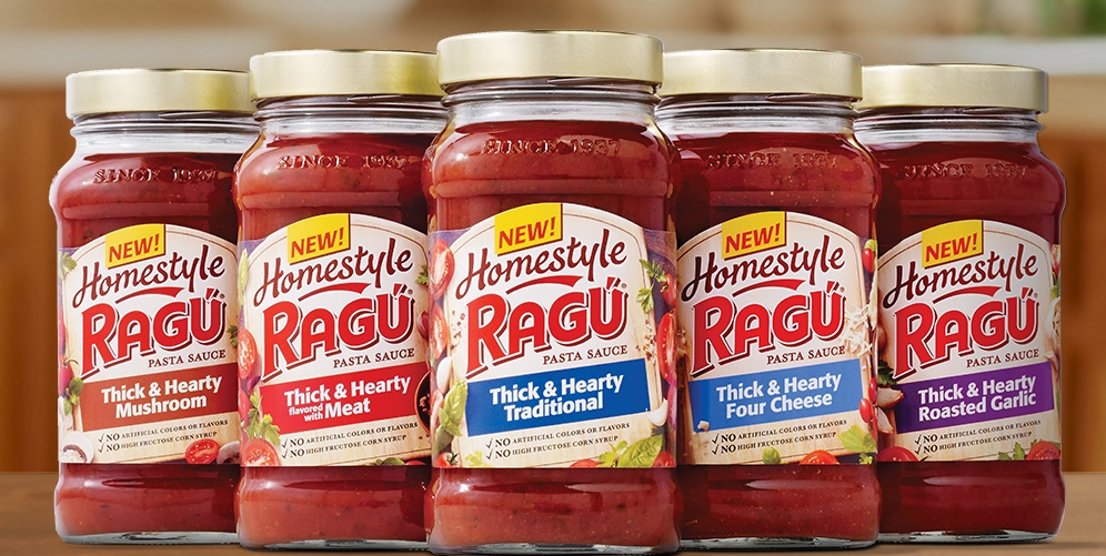 New Ragu Homestyle Thick & Heart Sauces