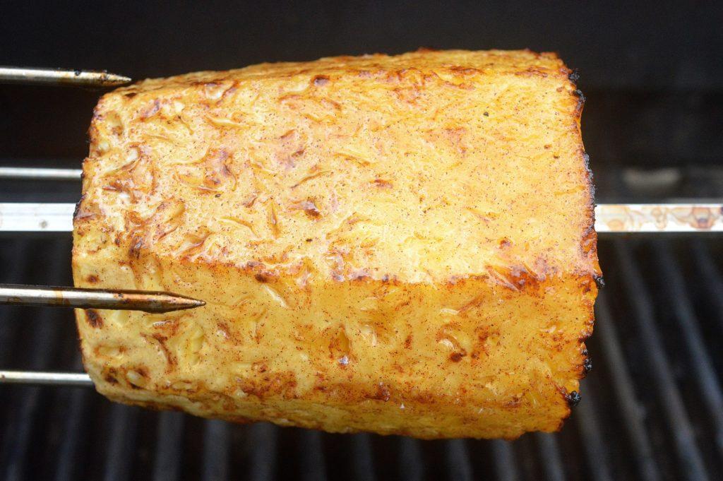 BBQ Rotisserie Bourbon & Brown Sugar Pineapple - This will knock anyone's socks off!