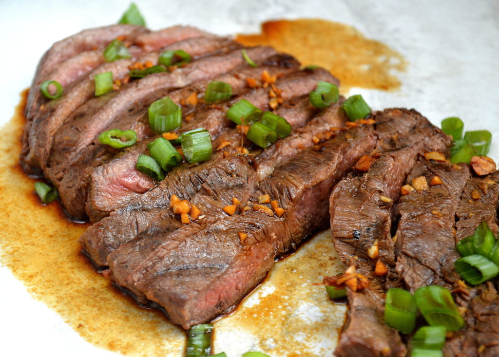 A perfectly marinated & grilled Flank Steak is hard to beat!