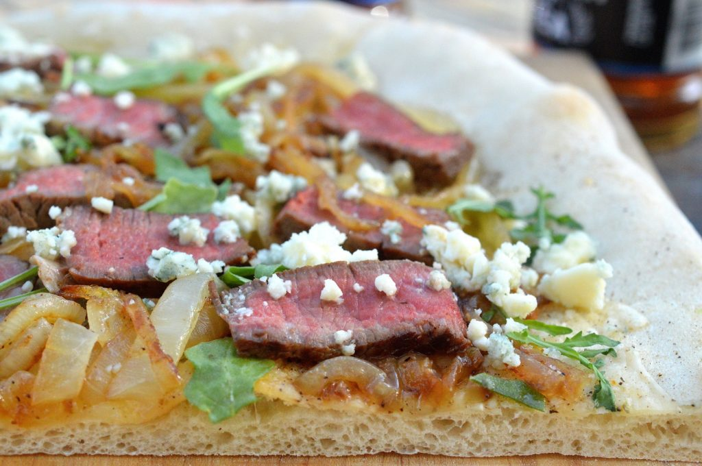 Fillet Mignon Caramelized Onion & Blue Cheese Pizza