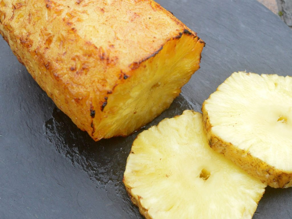 Grilled Brown Sugar & Bourbon Glazed Rotisserie Pineapple