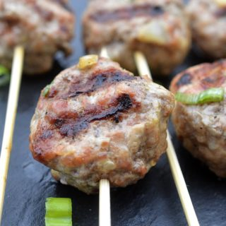 Grilled Greek Lamb Meatballs with Tzatziki