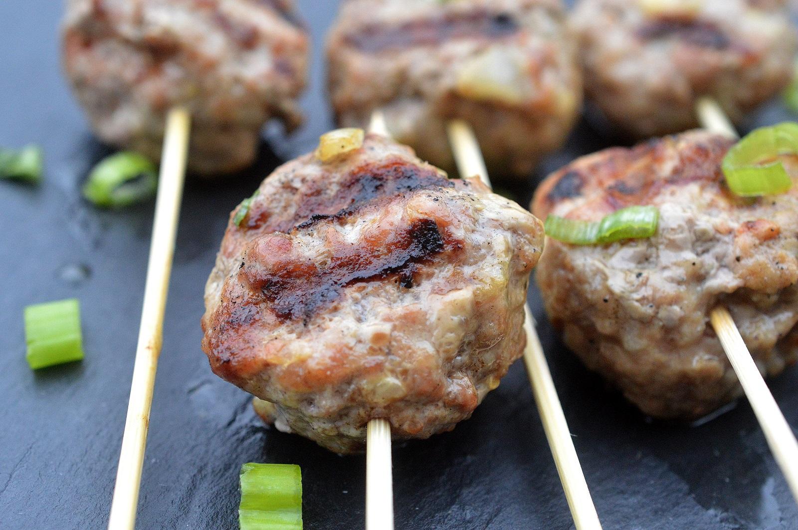 Grilled Greek Lamb Meatballs with Tzatziki