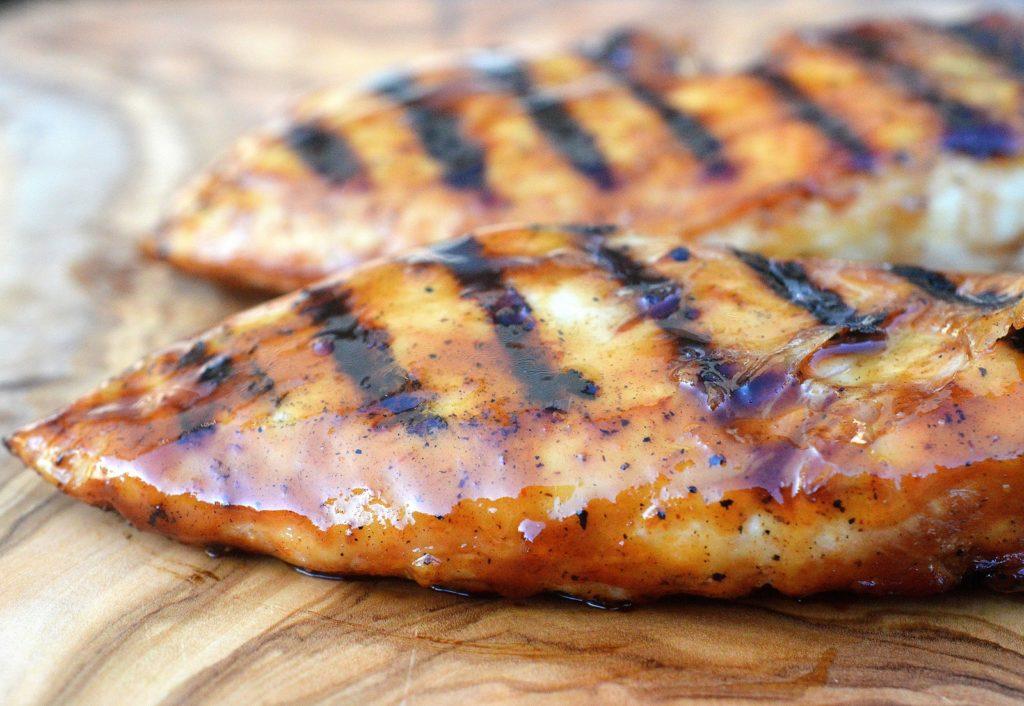 Grilled Honey Bourbon BBQ Chicken
