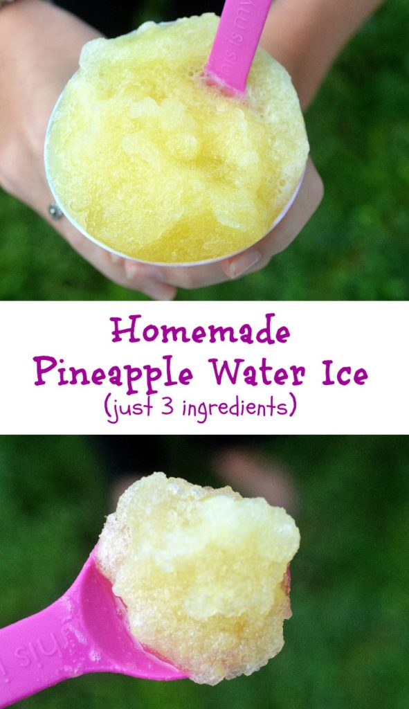 Easy Homemade Pineapple Water Ice Recipe! Just 3 ingredients to YUM!!