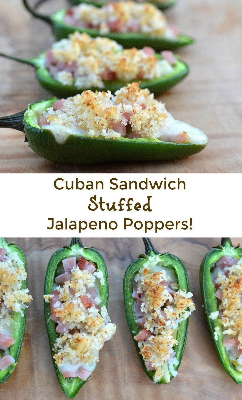 Cuban Sandwich Stuffed Jalapeno Poppers