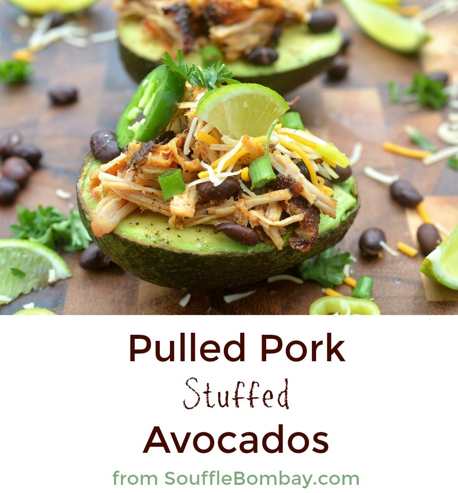 Pulled Pork Avocados from SouffleBombay.com