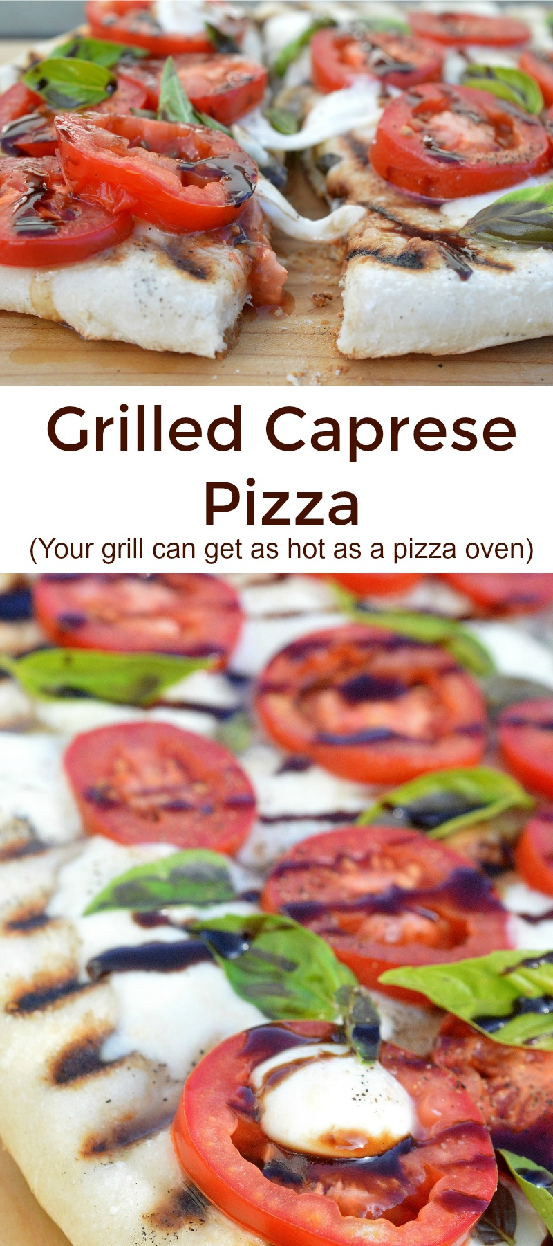 Caprese Pizza On The Grill