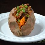 Pulled Pork Stuffed Sweet Potato So delicious together!