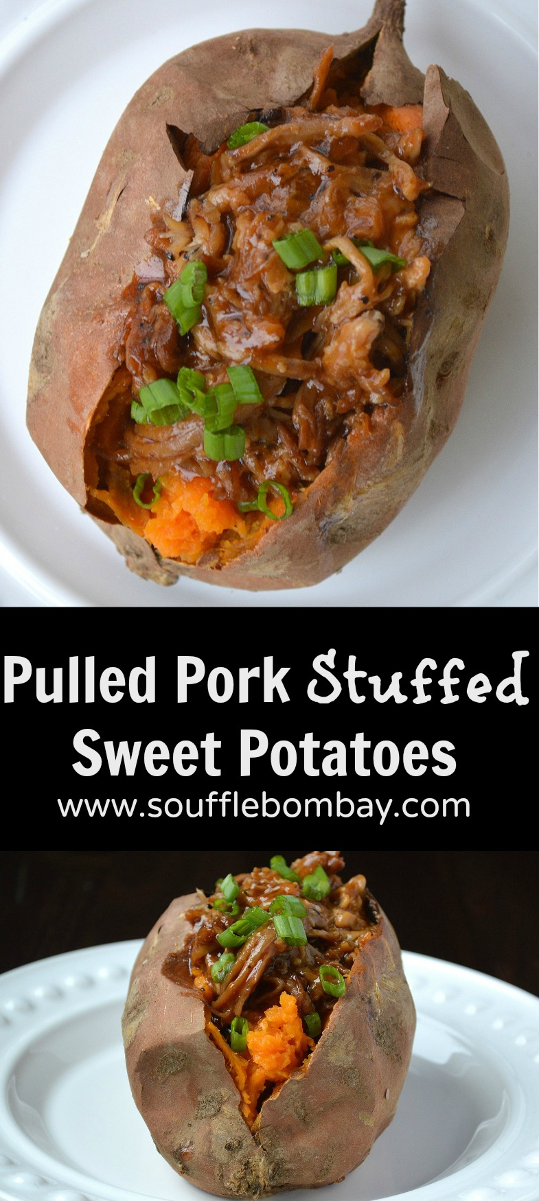 Pulled Pork Stuffed Sweet Potatoes. A great use for left over Pulled Pork PLUS they go together so well!