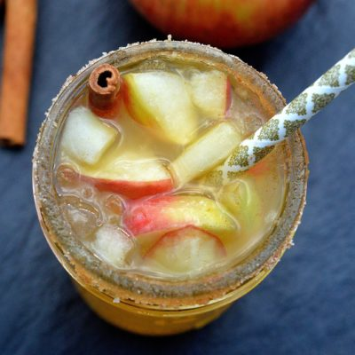 Apple Ginger Cocktail is crisp, delicious and Fall in a glass!