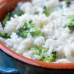 Cheesy Broccoli Rice made in under 20 minutes with white cheddar cheese