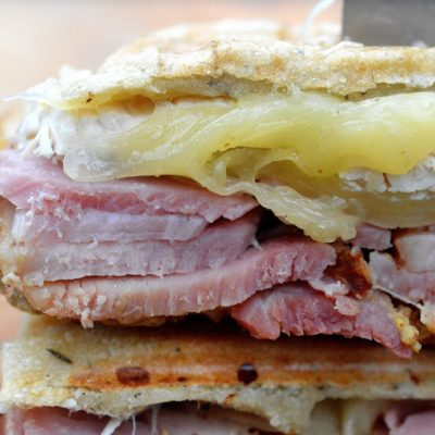 Chicken Cordon Blue Panini - Easy & delicious, a great way to use up leftover ham!